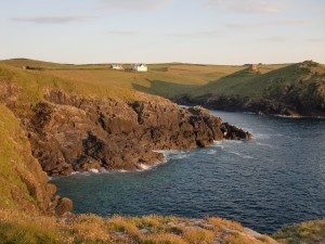 Cornwall_Doyden Houe and castle from coast