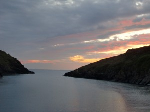 Cornwall_Sunset from Quay Cottage v pink