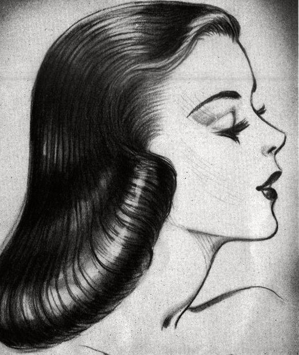 1950s hair women