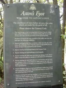 Aston's Eyot sign
